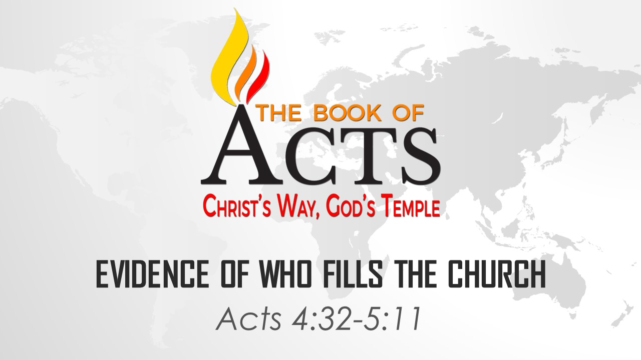Evidence of Who Fills the Church